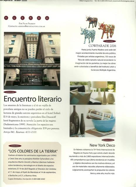 Revista Living: Sección Agenda